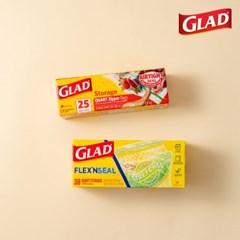 [글래드] 지퍼백 일반중형+플렉스앤씰 냉장중형(38매)_(717803)