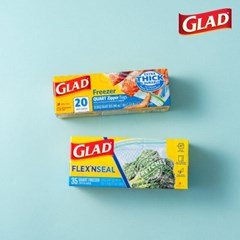 [글래드] 지퍼백 냉동중형+플렉스앤씰 냉동중형(35매)_(717801)