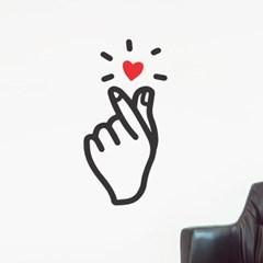 손가락하트 뿅뿅 귀여운 일러스트 인테리어 스티커