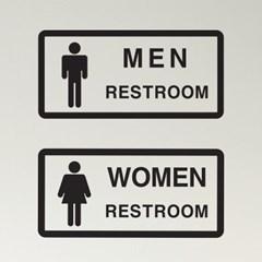 심플 restroom men women 화장실 남자 여자 표시 스티커