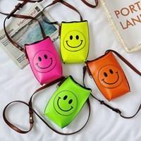 챈플 스마일 귀여운 컬러풀 스마트폰 가방 미니백_(2585009)
