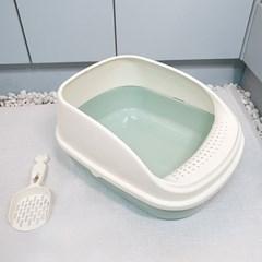 반려묘 배변통 오픈형 고양이 평판 화장실 분리가능 모래삽