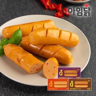 [아임닭] 안심 프랑크 소시지 120g 3종 1팩 골라담기