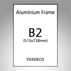 B2 무광 알루미늄 액자 ( 8종류 컬러)