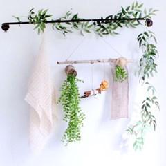 플랜트 롱 그린 조화 넝쿨 행잉 가랜드 식물 벽 장식