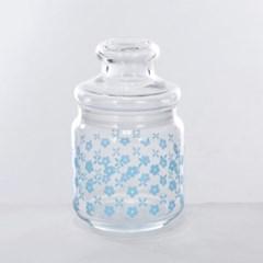 [모던하우스] L 빈티지플라워 유리보관용기 500ml 민트