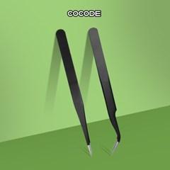 일자형 곡선형 네일 핀셋 네일 도구