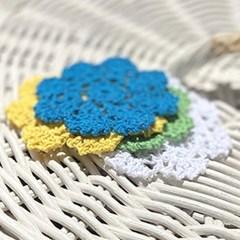 꽃 미니 도일리 3장 세트 (4colors)_(2235850)