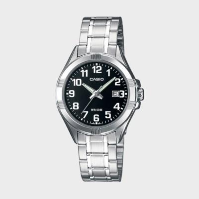 정품[CASIO] LTP-1308D-1B 카시오 실버 메탈 밴드 시계