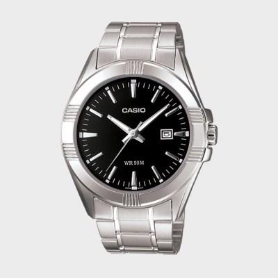 CASIO 카시오 MTP-1308D-1A 카시오 실버 메탈 밴드 시계