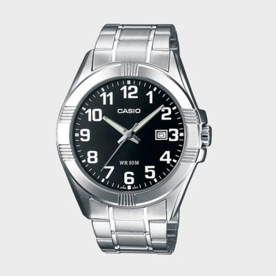 정품[CASIO] MTP-1308D-1B 카시오 실버 메탈 밴드 시계