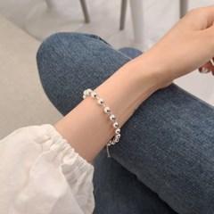 925 실버 여자 팔찌 체인 커플 레이어드 6mm 볼