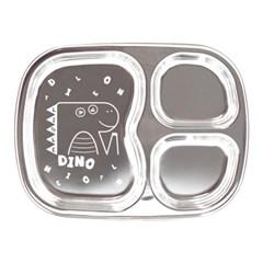 아이쥬 스텐 간식 사각 접시 3구 (공룡)