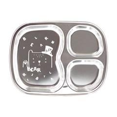 아이쥬 스텐 간식 사각 접시 3구 (곰)