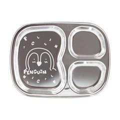 아이쥬 스텐 간식 사각 접시 3구 (펭귄)