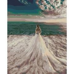 신부와 바다 (캔버스형) 보석십자수 40x50