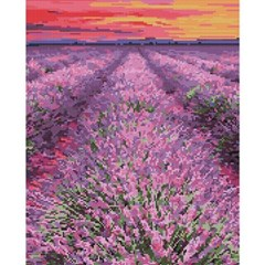 라벤더 꽃밭 (캔버스형) 보석십자수 40x50