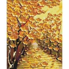 황금 꽃길 (캔버스형) 보석십자수 40x50