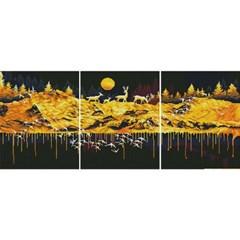 황금재물동산 (3단세트) (캔버스형) 보석십자수 40x50