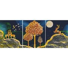 행운 황금동산 (3단세트)(캔버스형) 보석십자수 40x50