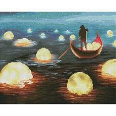 달이 동동 (캔버스형) 보석십자수 40x50