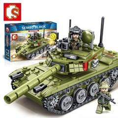 셈보블럭 레고탱크 레고군인미니피규어 밀리터리85 군사탱크 105514
