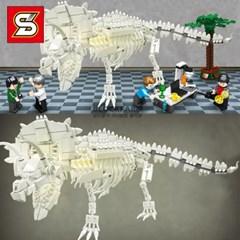 중국레고 레고호환 레고공룡 학원단체선물 트리케라톱스 뼈모형1603