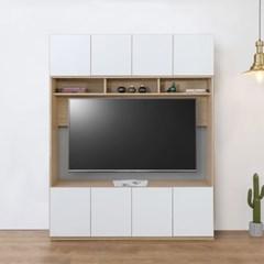 대형 시스템 키높은 거실장 세트 1600 (2color)