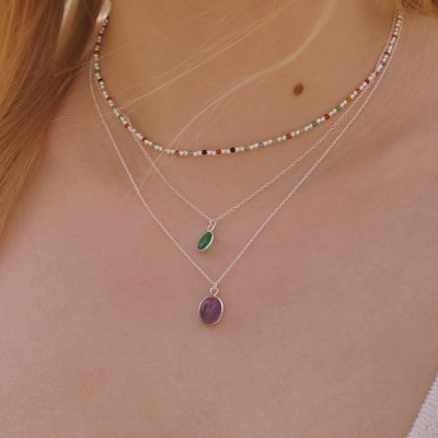 [silver925] Lilac necklace