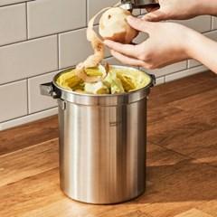 [한샘] 냄새가 안나는 가정용 스텐 음식물쓰레기통 3L 2종