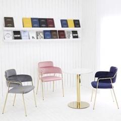 더조아 나나골드체어 업소용 카페 식탁 디자인 인테리어 의자