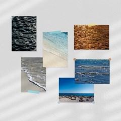 윤슬 바다 해변 선셋 비치 감성 A4 미니 포스터 12종 (01 ~ 12)