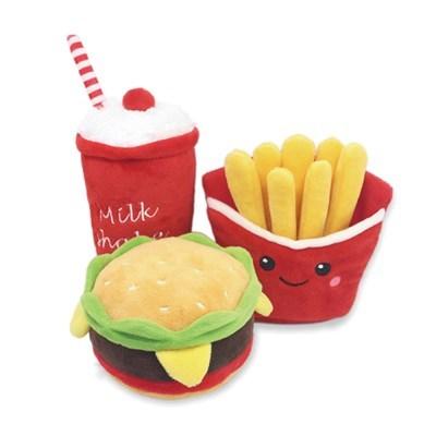 불고기 햄버거세트 애견 봉제인형 장난감