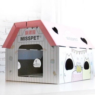 고양이 스크래쳐 하우스 박스