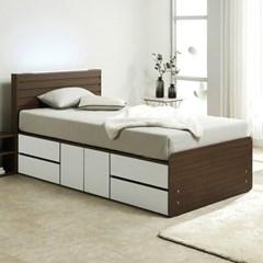 노뎀 LED 높은 2단 도어중앙 침대SS+독립 매트리스