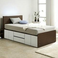 노뎀 LED 높은 서랍중앙 침대SS+독립 매트리스