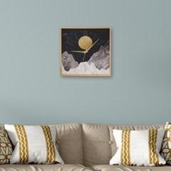 월데코 무소음 벽시계(달빛)
