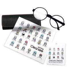 클리어씨 캐릭터 디자인 김서림방지 안경닦이 안경클리너 습기제거