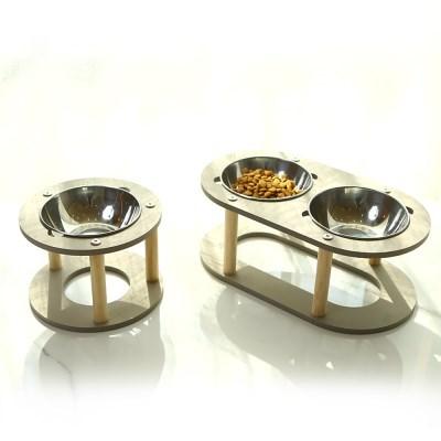 런메이크 로얄 펫 밥그릇 테이블-강아지 고양이식기