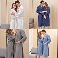 이지코튼 여름 샤워목욕 호텔가운 커플잠옷 남녀공용