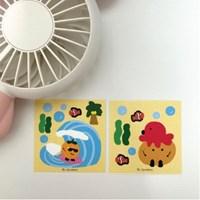 서핑/문어&감자 리무버블 스티커