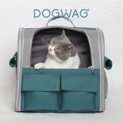 도그웨그 메쉬 백팩 강아지 산책 이동 가방 캐리어 고양이 이동장