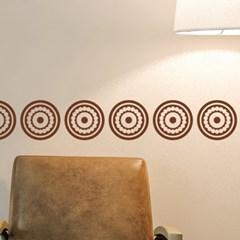 서클 패턴 21p 에스닉 인테리어 스티커