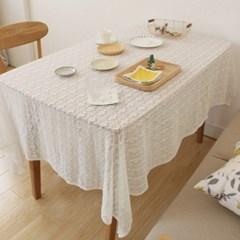 화이트 레이스 식탁보 테이블보 2size d