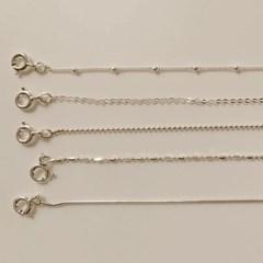 기본 얇은 한줄 뱀줄 체인 레이어드 실버 은 팔찌 발찌
