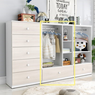 [데코마인] 알린 베이비장 800 수납장 오픈형 옷장