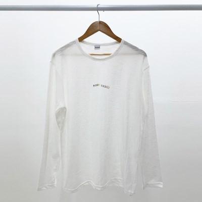[방실이 시리즈] 방실 슬라브 롱슬리브 티셔츠 [WHITE]