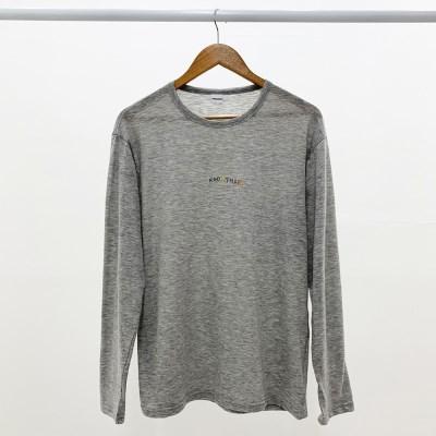 [방실이 시리즈] 방실 슬라브 롱슬리브 티셔츠 [GRAY]