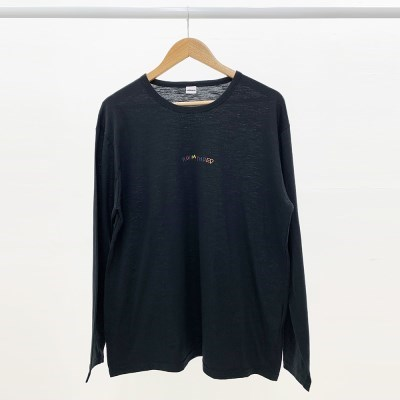 [방실이 시리즈] 방실 슬라브 롱슬리브 티셔츠 [BLACK]