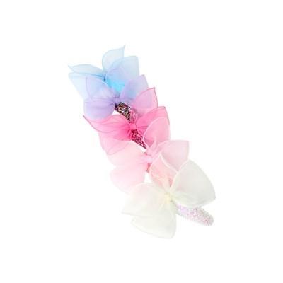[마미버드] 빅 리본 블링 헤어핀 (5color)